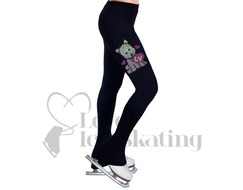 Ice Skating Leggings Rhinestones Westie Puppy Love