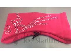 Sagester Fuchsia Ice Skating Crystals Single Skater Headband
