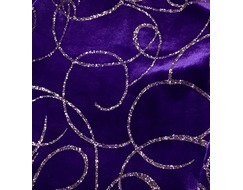 Mondor Ice Skating Dress Purple with Glitter Design