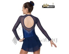 Intermezzo Royal Blue with Rhinstones Ice Skating Dress