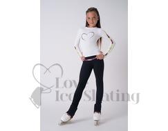 Thuono White Collection Black Loop Leggings