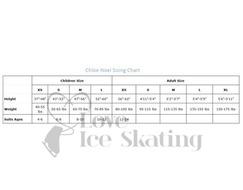 Chloe Noel Ice Skating Light Tan Tights OTB 2 Side Crystal Swirl