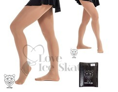 Mid Tan Footed Skating Tights 100 Denier