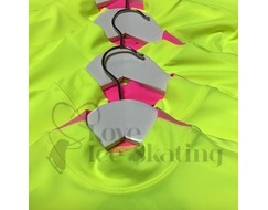 Thuono Ice Skating Top Neon  Yellow w Pink Inserts