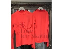 Thuono Coral Red Ice Skating Training Top