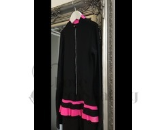 Thuono Neon Pink Thermal Ice Skating Catsuit Jumpsuit with Crystal Zip