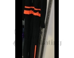 Thuono Neon Orange Thermal Ice Skating Catsuit Jumpsuit with Crystal Zip