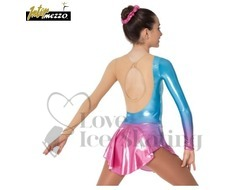 Ice skating Dress Blue to Pink Iridescent Fade