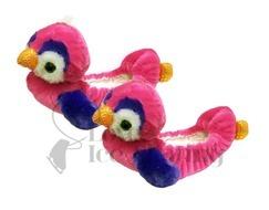 Chloe Noel Pink Parrot Ice Skate Soakers