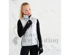 Ice Skating Black Snowflake Gloves