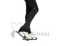 Jiv Black Leggings with Snowflakes