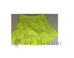 Thuono Neon Yellow A-Line Ice Skating Skirt